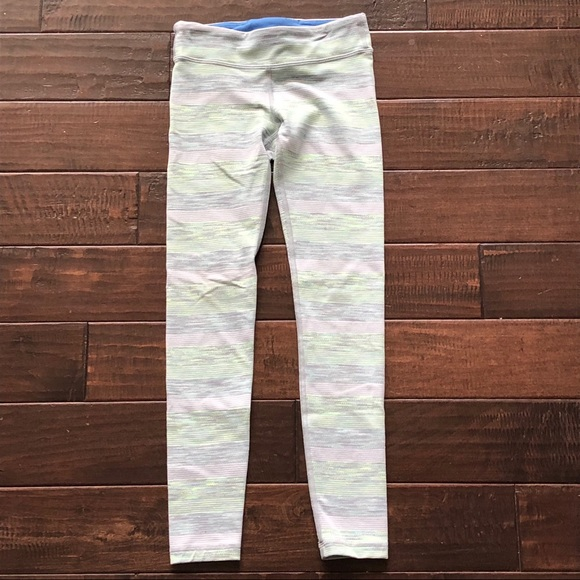 38a00abb92 Ivivva Bottoms | Lululemon Girls Pastel Stripe Leggings 7 8 | Poshmark